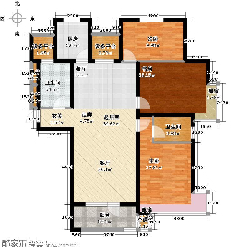宏都峰景139.00㎡3室1厅1卫1厨户型