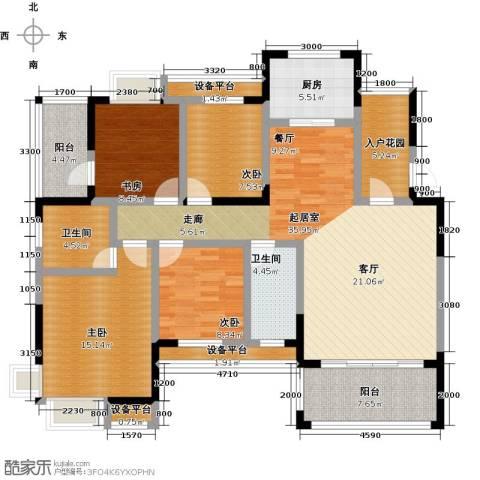 丰源国际御�台4室0厅2卫1厨143.00㎡户型图