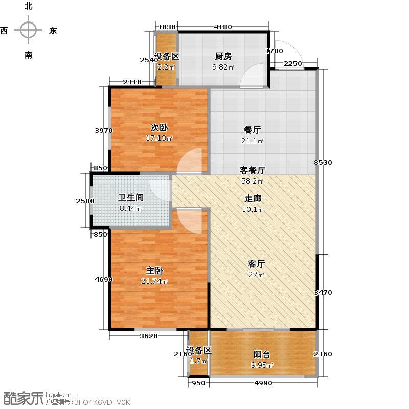 遂平建业森林半岛户型2室1厅1卫1厨
