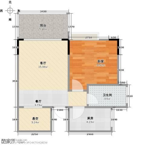 衍宏・美丽春天4期1厅1卫1厨46.00㎡户型图
