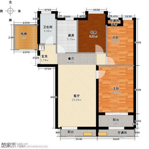 众成・新居华府3室1厅1卫1厨100.00㎡户型图