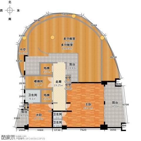 三亚海韵度假酒店2室0厅3卫0厨386.00㎡户型图