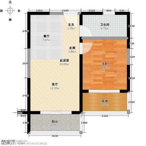 合景・月亮湾1室0厅1卫0厨53.00㎡户型图