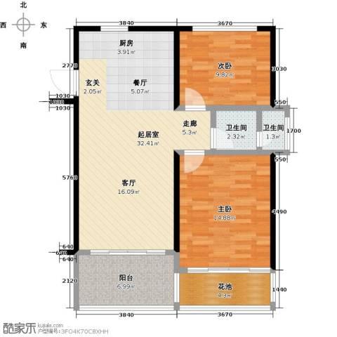 合景・月亮湾2室0厅2卫0厨80.00㎡户型图
