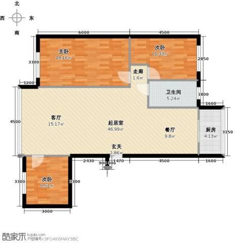 幸福时光3室0厅1卫1厨126.00㎡户型图