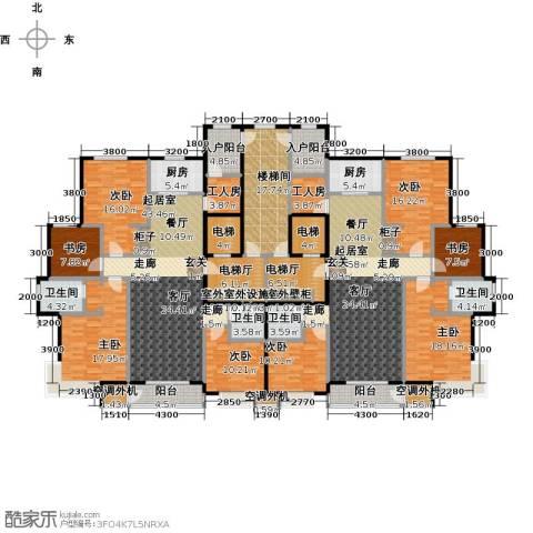 丽景福苑8室0厅4卫2厨288.18㎡户型图