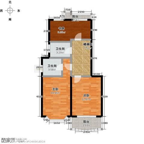半岛豪门花园二期3室0厅2卫0厨150.00㎡户型图