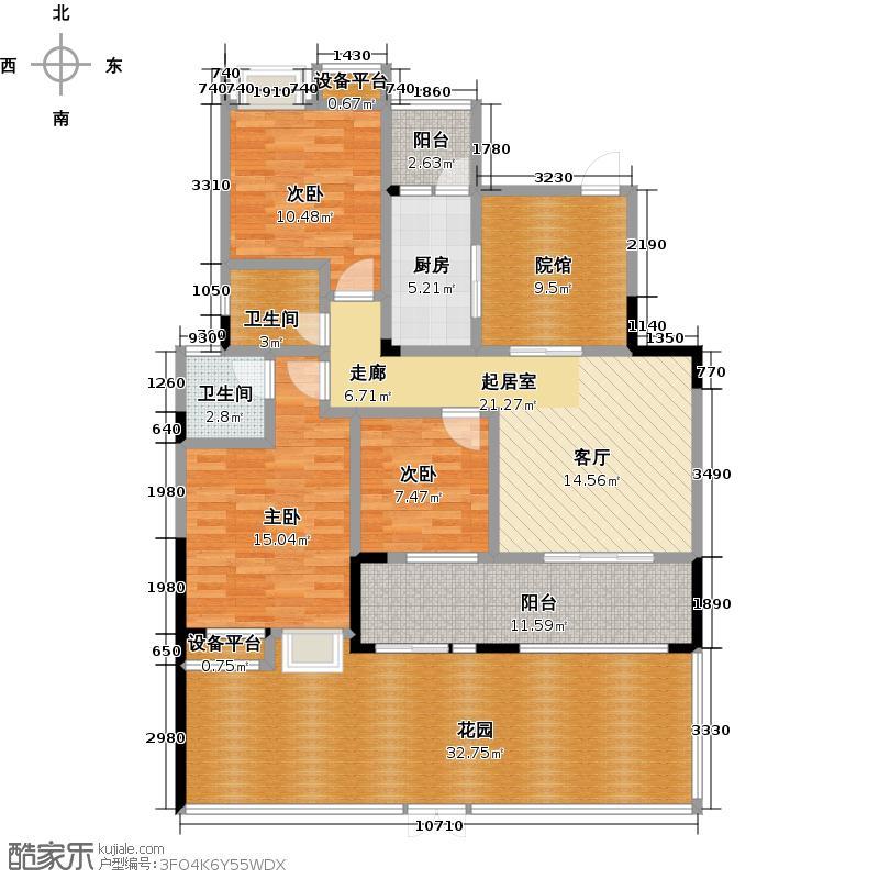 光瑞・江都华宸104.16㎡I三室两厅两卫户型3室2厅2卫