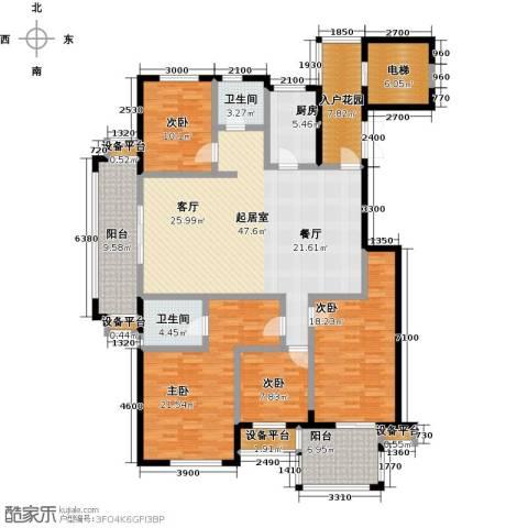 书香园4室0厅2卫1厨176.00㎡户型图
