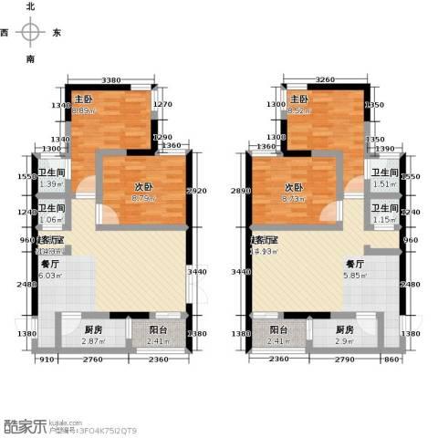 世贸大厦二期4室0厅4卫2厨90.95㎡户型图
