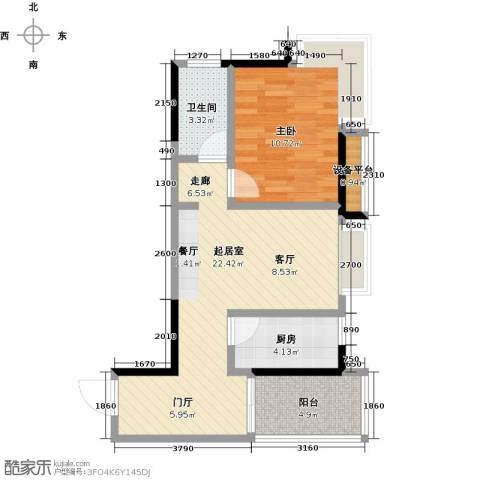 布鲁明顿广场1室0厅1卫1厨68.00㎡户型图