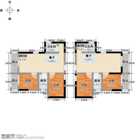 世贸大厦二期4室0厅2卫2厨95.00㎡户型图