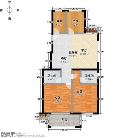 书香园3室0厅2卫1厨114.00㎡户型图