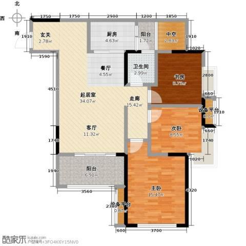 布鲁明顿广场3室0厅1卫1厨125.00㎡户型图
