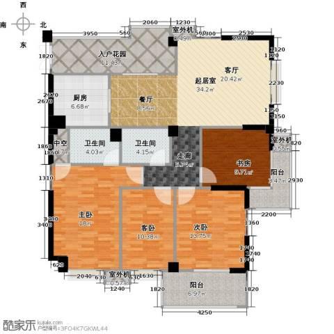 衣锦华庭3期4室0厅2卫1厨174.00㎡户型图