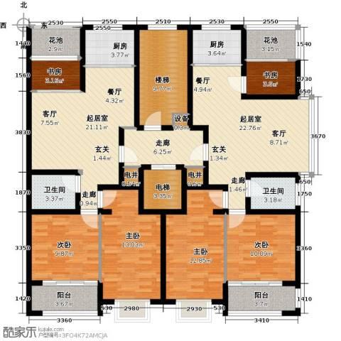 世纪绿城6室0厅2卫2厨144.67㎡户型图