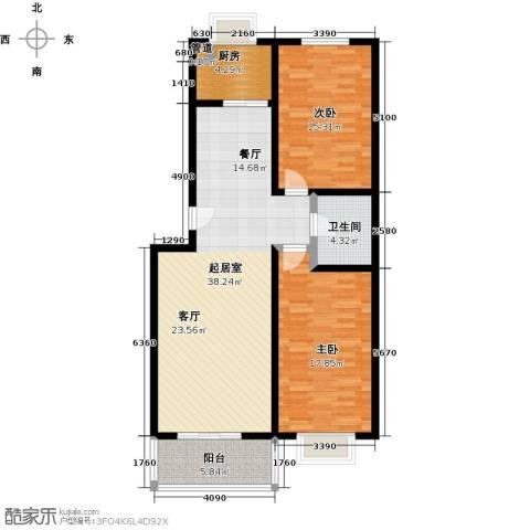 东龙府邸2室0厅1卫1厨98.00㎡户型图