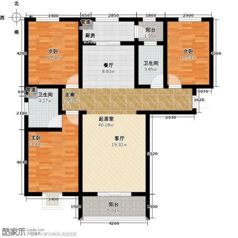 东龙府邸3室0厅2卫1厨136.00㎡户型图