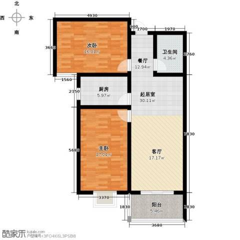 东龙府邸2室0厅1卫1厨112.00㎡户型图