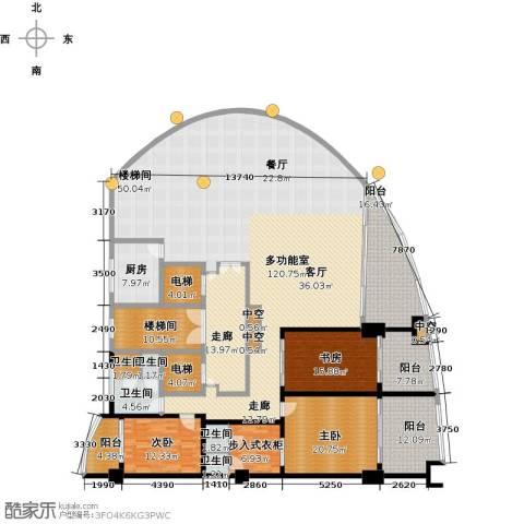 三亚海韵度假酒店3室0厅5卫1厨270.19㎡户型图