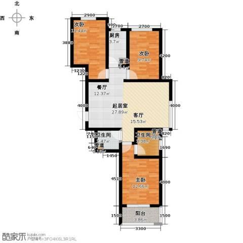 东龙府邸3室0厅2卫1厨118.00㎡户型图