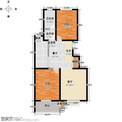 石家庄朱雀门2室0厅1卫1厨90.00㎡户型图