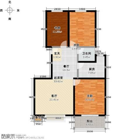 石家庄朱雀门3室0厅1卫1厨103.00㎡户型图