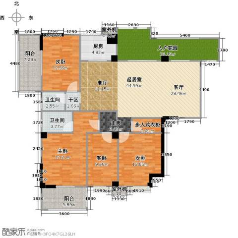 衣锦华庭3期4室0厅2卫1厨191.00㎡户型图