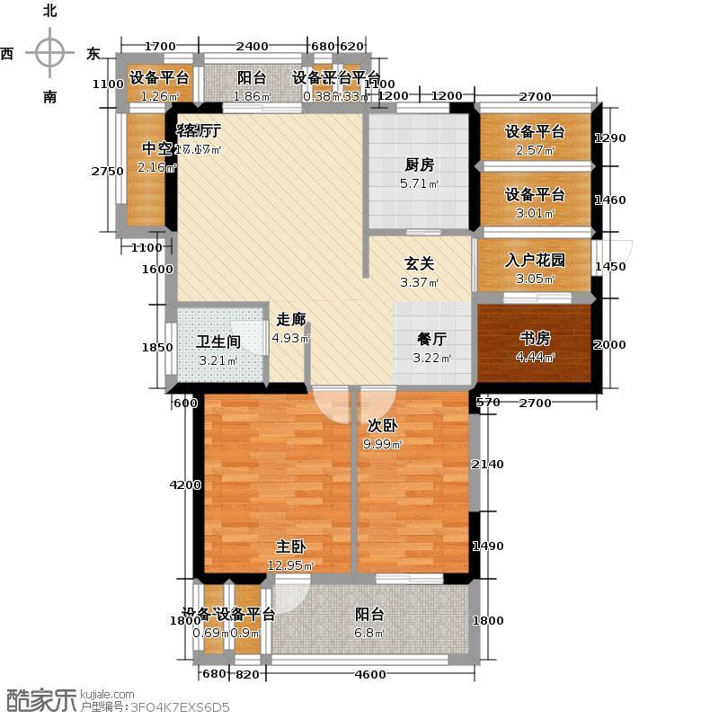 家天下三木城C区(艺墅)100.00㎡A-100平米户型3室1厅1卫