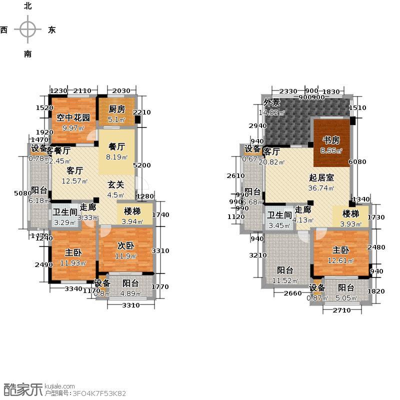 亿嘉・江南水岸户型3室1厅2卫1厨