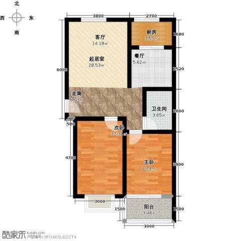 和园2室0厅1卫1厨86.00㎡户型图