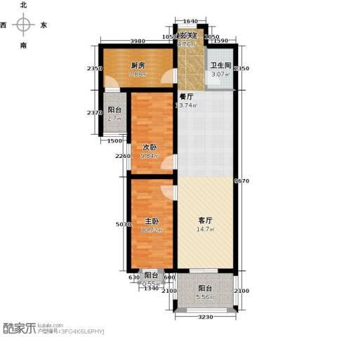 和园2室0厅1卫1厨85.00㎡户型图