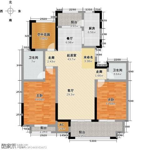 创业紫金城2室0厅2卫1厨137.00㎡户型图