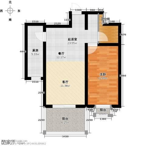 和园1室0厅1卫1厨60.00㎡户型图