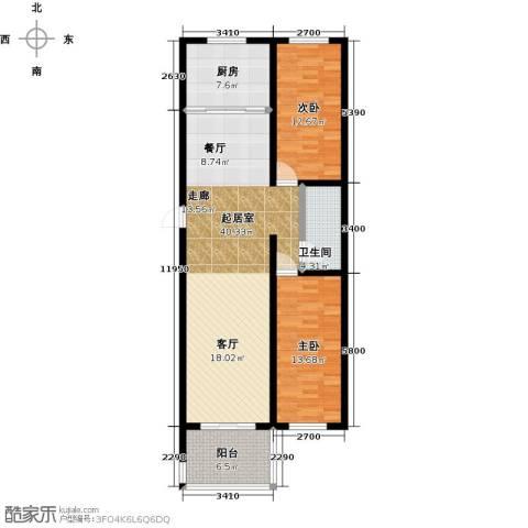 和园2室0厅1卫1厨97.00㎡户型图