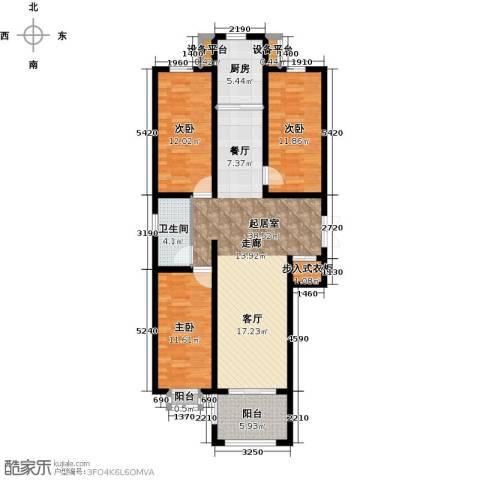 和园3室0厅1卫1厨107.00㎡户型图