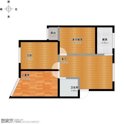 东唐苑2室1厅1卫1厨92.00㎡户型图