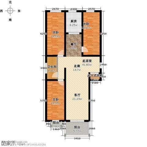 和园3室0厅1卫1厨117.00㎡户型图