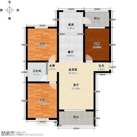 西原泓郡3室0厅1卫1厨130.00㎡户型图
