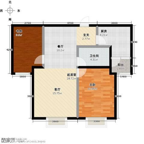 西原泓郡2室0厅1卫1厨88.00㎡户型图