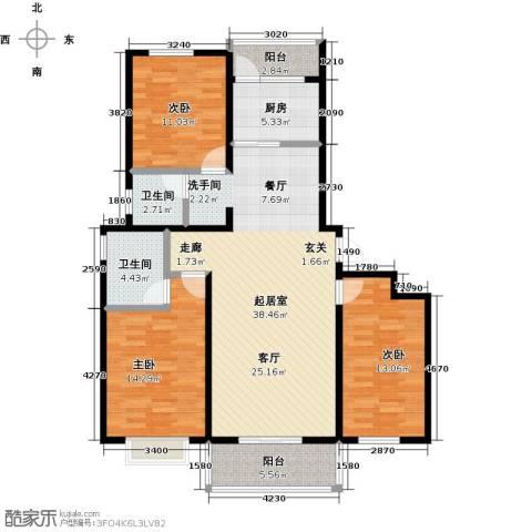 西原泓郡3室0厅2卫1厨137.00㎡户型图
