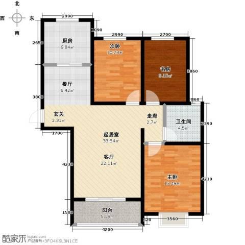 西原泓郡3室0厅1卫1厨115.00㎡户型图