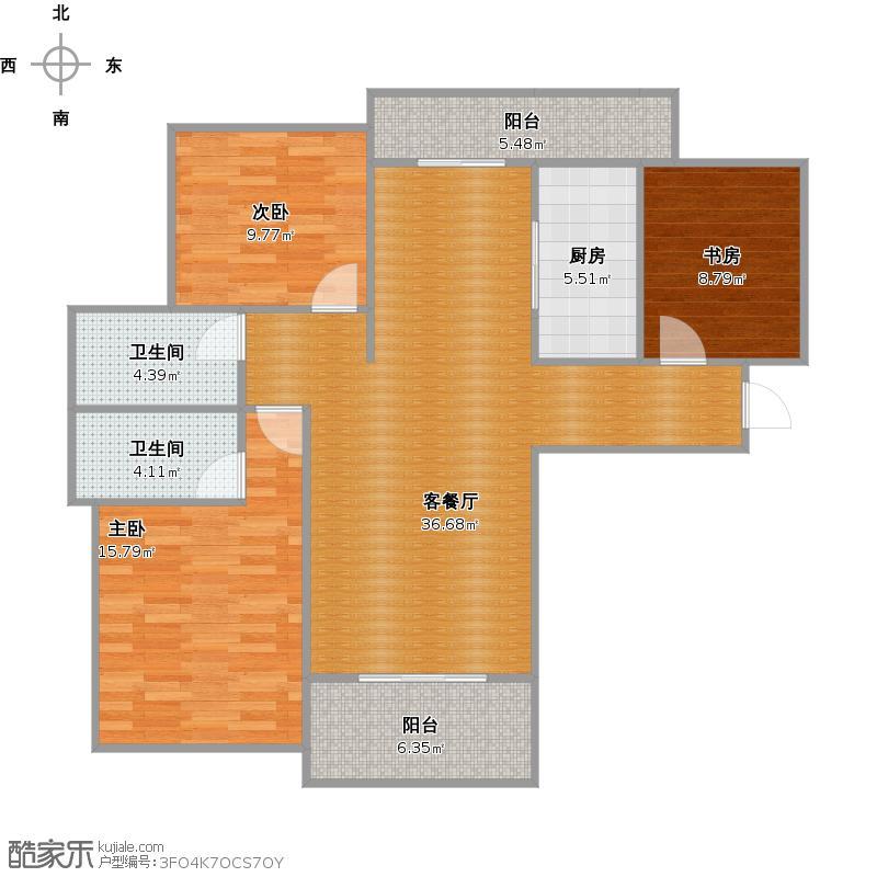 118m2三室两厅