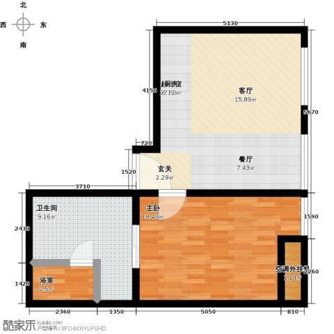 新世界・名泷1室0厅1卫0厨66.00㎡户型图