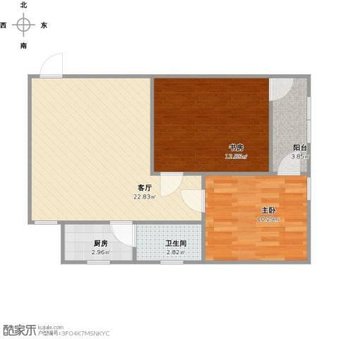 金杨七街坊2室1厅1卫1厨75.00㎡户型图