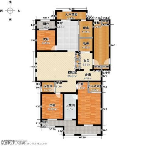 巨凝金水岸3室0厅2卫1厨200.00㎡户型图