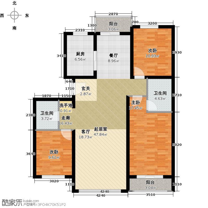 凤凰城二期幸福集Z户型3室2卫1厨