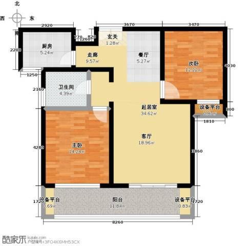 世纪飞凡锦城(世纪长江苑)2室0厅1卫1厨120.00㎡户型图