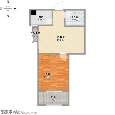 罗马西西里1室1厅1卫1厨62.00㎡户型图