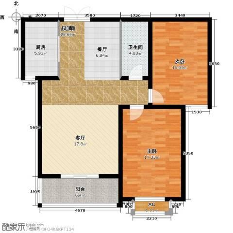 石家庄观天下2室0厅1卫1厨99.00㎡户型图